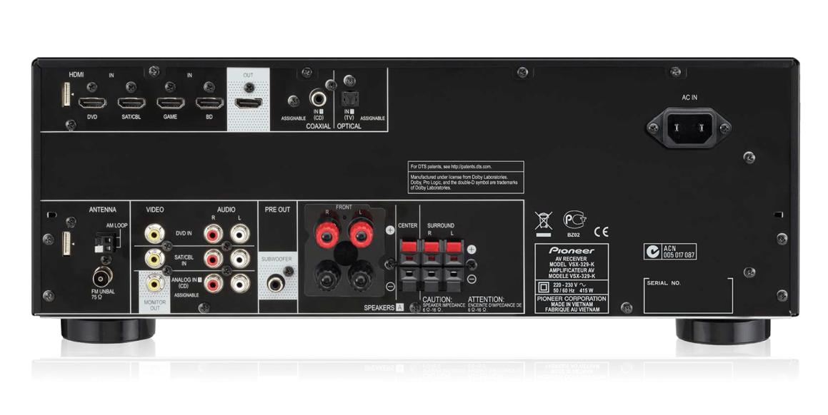 pioneer vsx 329 k amplificateur 5.1 3d 4k Achat / Vente PIONEER VSX
