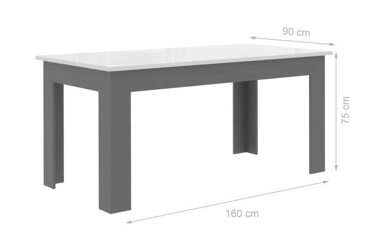 table grise et blanche conceptions de maison. Black Bedroom Furniture Sets. Home Design Ideas