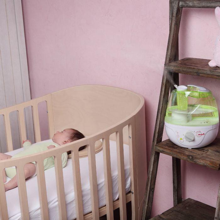 badabulle humidificateur hygrom tre blanc vert achat. Black Bedroom Furniture Sets. Home Design Ideas