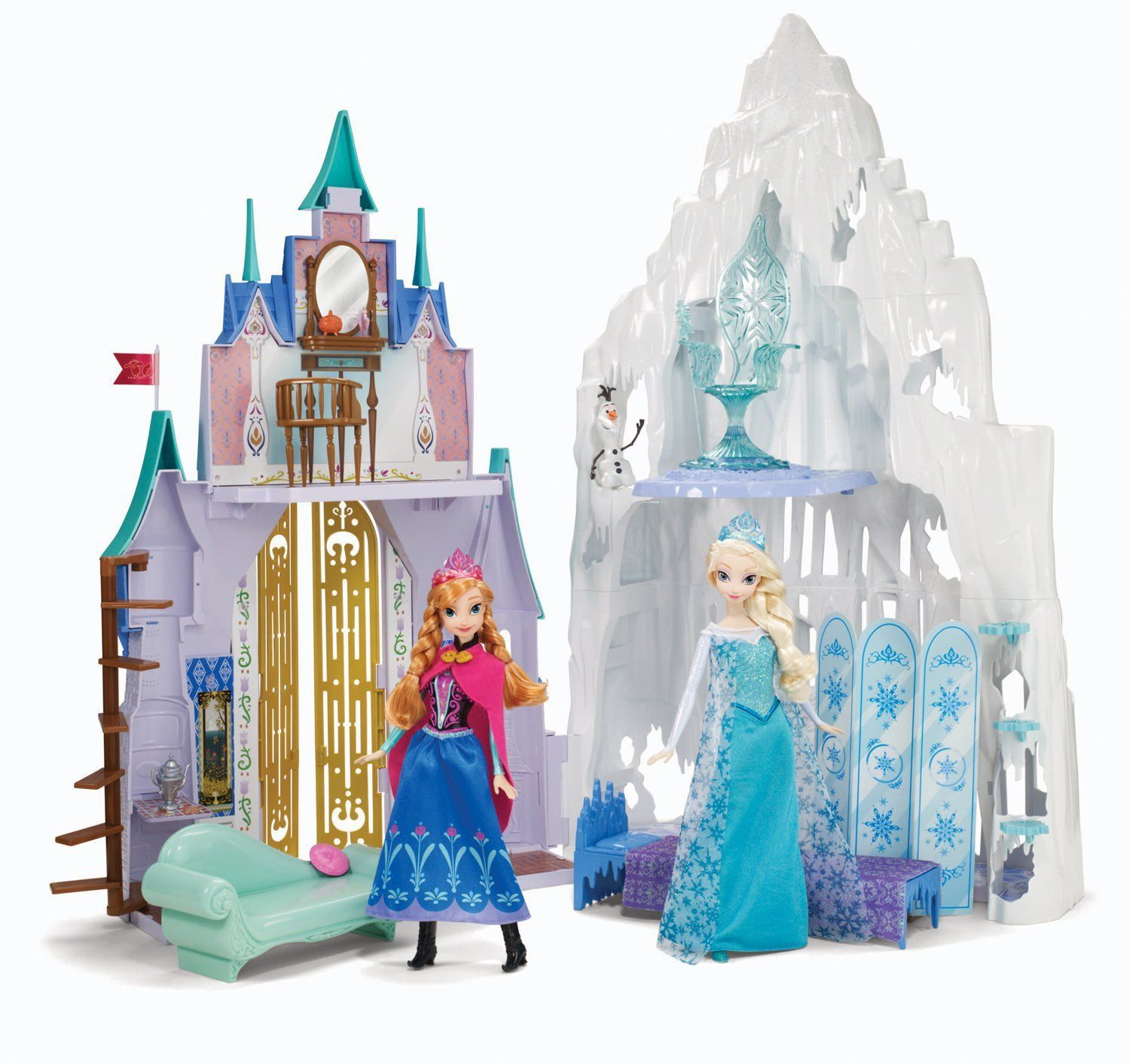 frozen le ch teau de glace elsa et anna achat vente maison poup e cdiscount. Black Bedroom Furniture Sets. Home Design Ideas