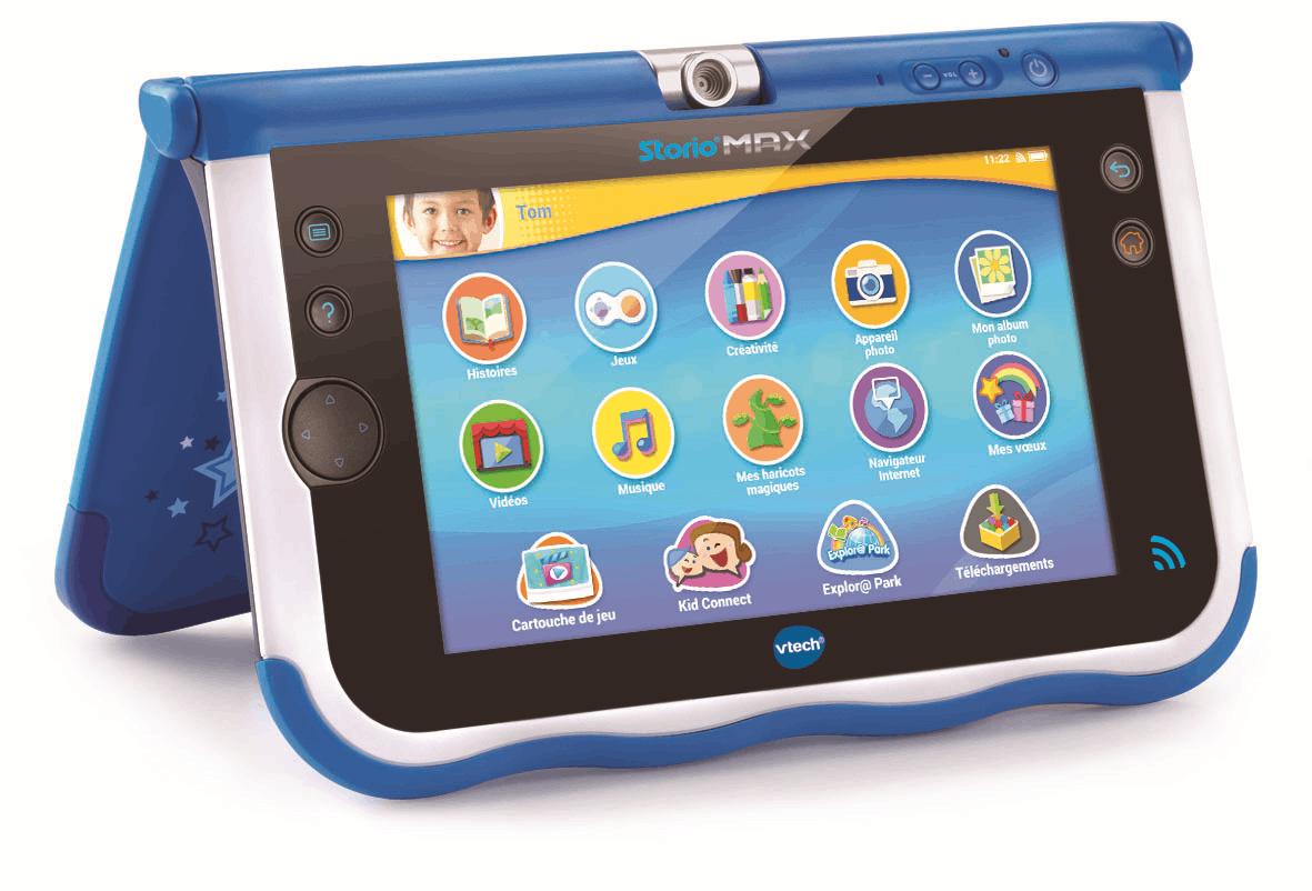 destockage vtech storio max 7 bleue tablette enfant tablette enfant au meilleur prix soldes. Black Bedroom Furniture Sets. Home Design Ideas