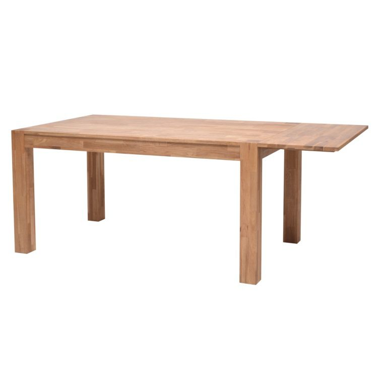 Miles table extensible en ch ne massif 4 10 personnes for Table chene massif extensible