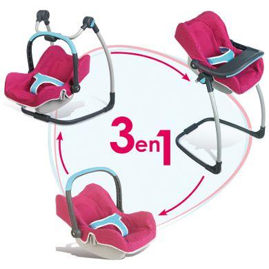 Destockage smoby chaise haute cosy 3 en 1 b b confort for Chaise haute pour poupon