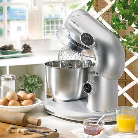 kitchencook - robot pâtissier multifonction ak80 silver - achat