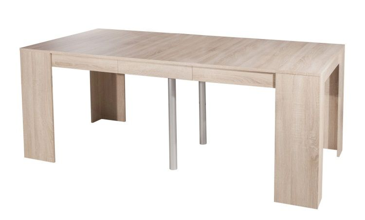 Mexx table console extensible 8 personnes 49 198x91 cm for Table salle a manger pliante