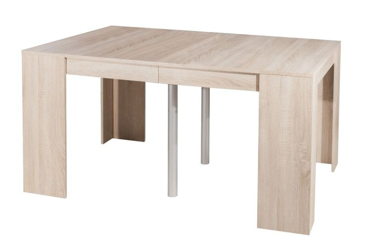 Mexx table console extensible 8 personnes 49 198x91 cm for Table console extensible grise