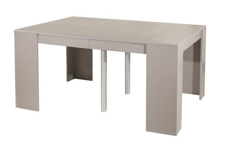 Mexx table console extensible 198cm coloris taupe achat vente console ext - Table console extensible pied central ...