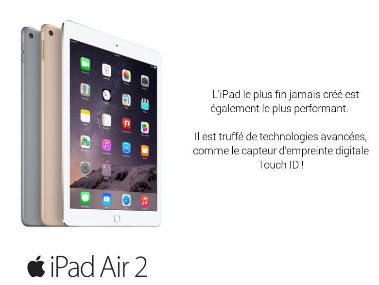 apple ipad air 2 wi fi 16go or prix pas cher cdiscount. Black Bedroom Furniture Sets. Home Design Ideas