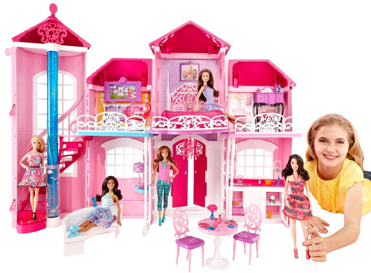 barbie la nouvelle maison achat vente maison poup e cdiscount. Black Bedroom Furniture Sets. Home Design Ideas