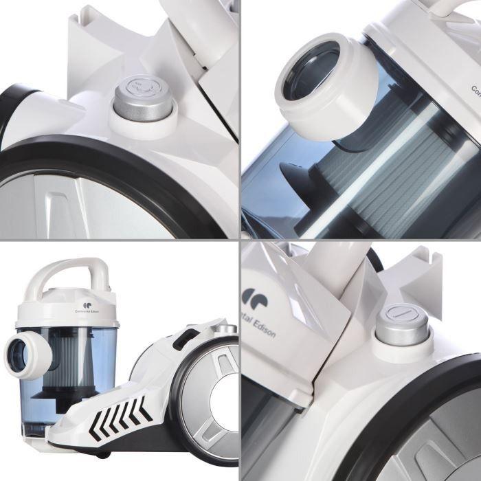 aspirateur sans sac continental edison vc22sswb achat vente aspirateur traineau cdiscount. Black Bedroom Furniture Sets. Home Design Ideas