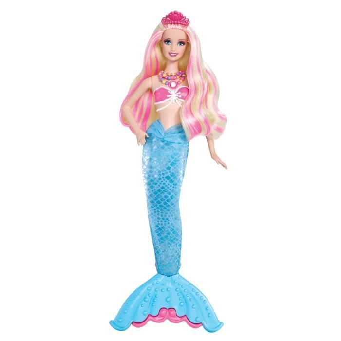 Barbie princesse sir ne lumina achat vente poup e cdiscount - Barbie sirene couleur ...