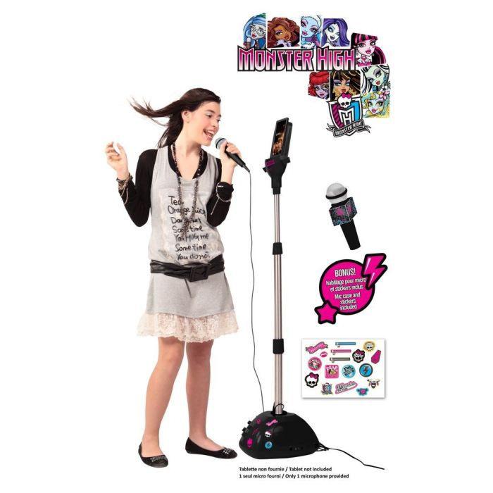 monster high microphone sur pied karaoke lexibook achat. Black Bedroom Furniture Sets. Home Design Ideas