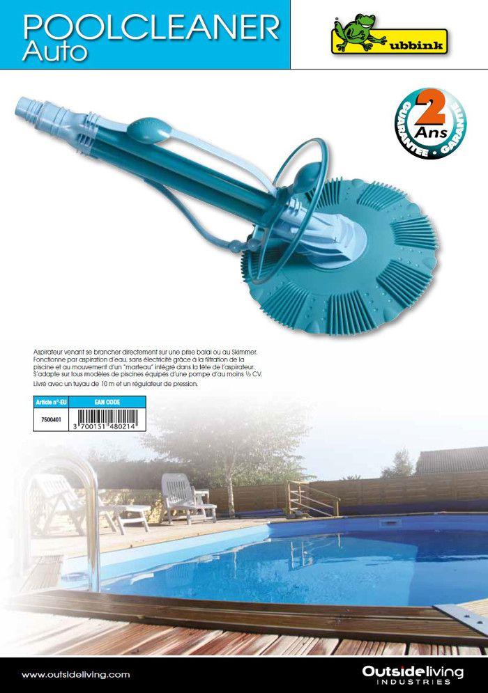 ubbink aspirateur automatique pour piscine achat vente robot de nettoyage aspirateur. Black Bedroom Furniture Sets. Home Design Ideas