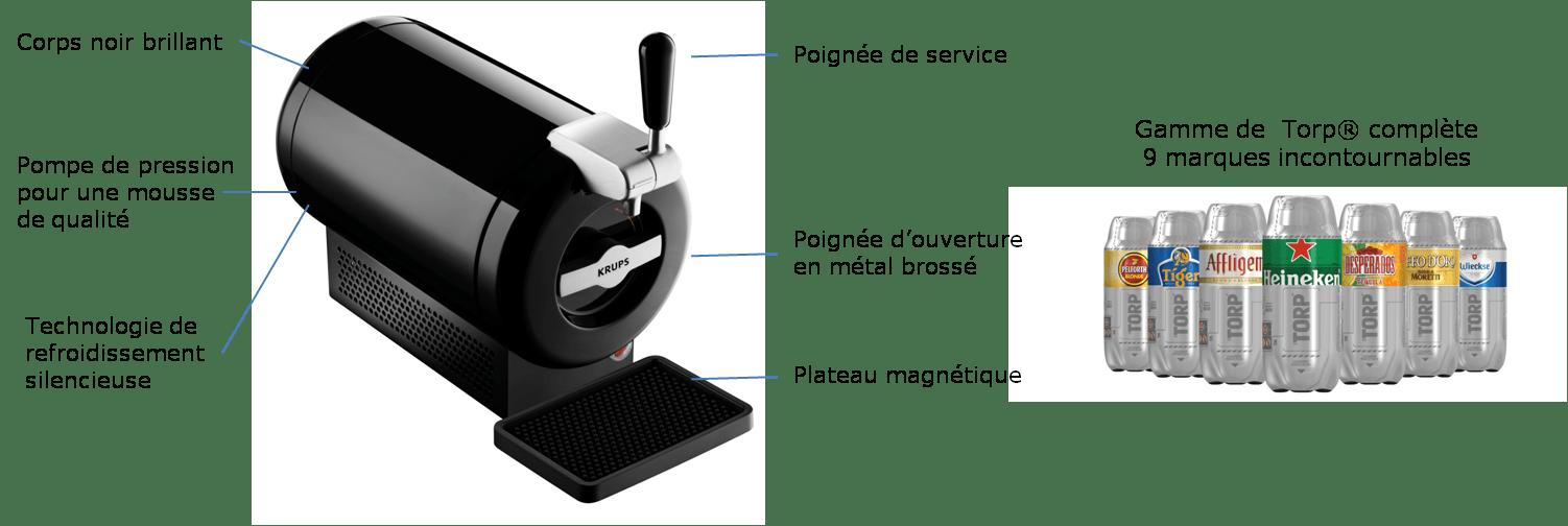 Krups machine bi re pression the sub noir vb650810 achat vente machine a bi re cdiscount - Machine a biere heineken ...