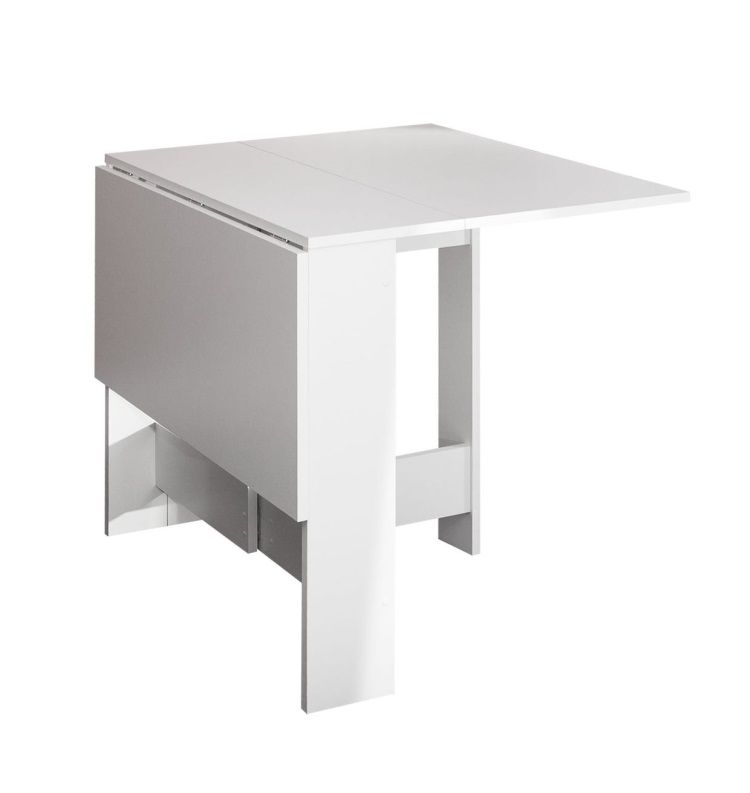 curry table pliante 28 103 cm d cor blanc achat vente table manger seule curry table. Black Bedroom Furniture Sets. Home Design Ideas