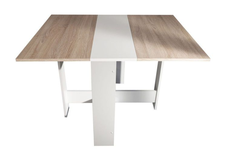 Curry table pliante 28 103 cm blanc ch ne naturel achat - Table de bridge pliante ...