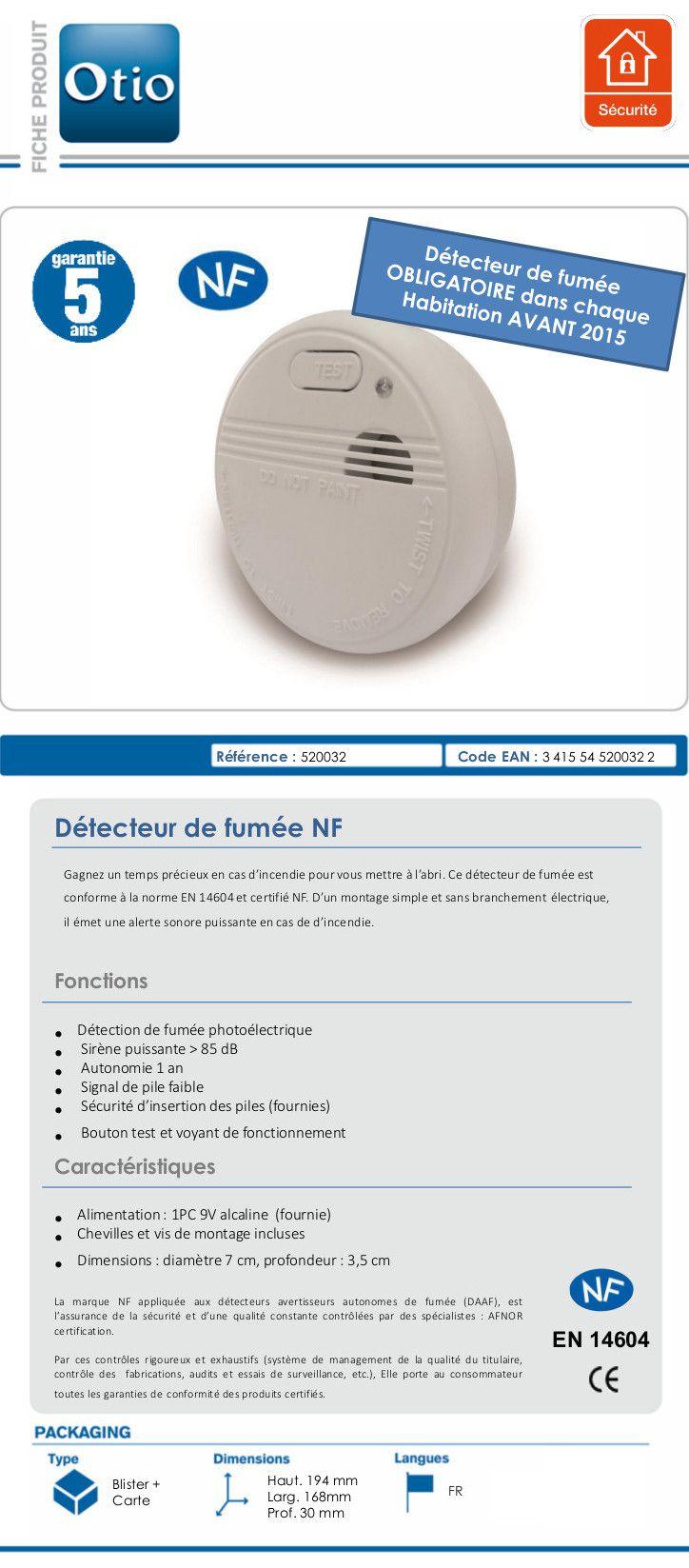 Detecteur de fumee otio pas cher for Castorama application