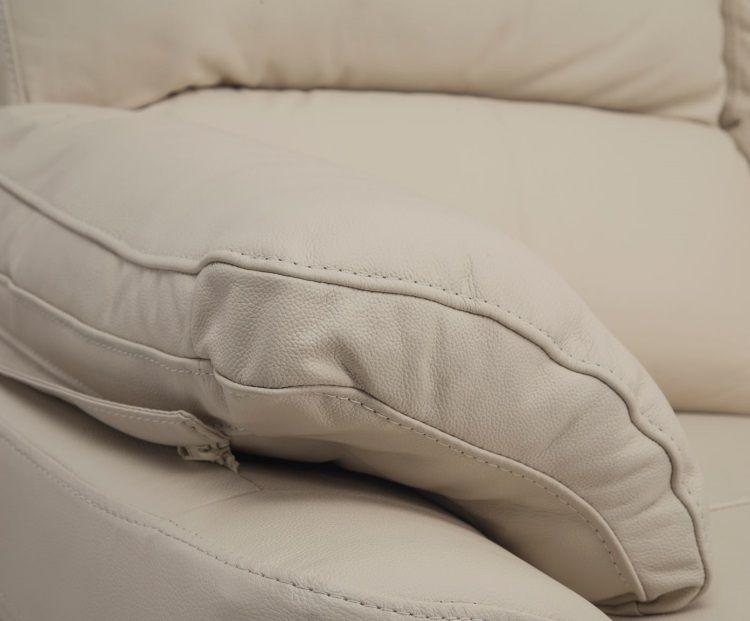 Corcega canap droit de relaxation en cuir 3 places for Canape 3 places simili cuir