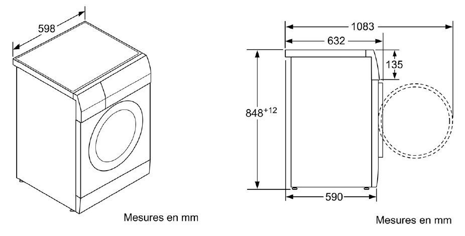 siemens wd14h560ff lavante s chante achat vente lave linge s chant cdiscount. Black Bedroom Furniture Sets. Home Design Ideas
