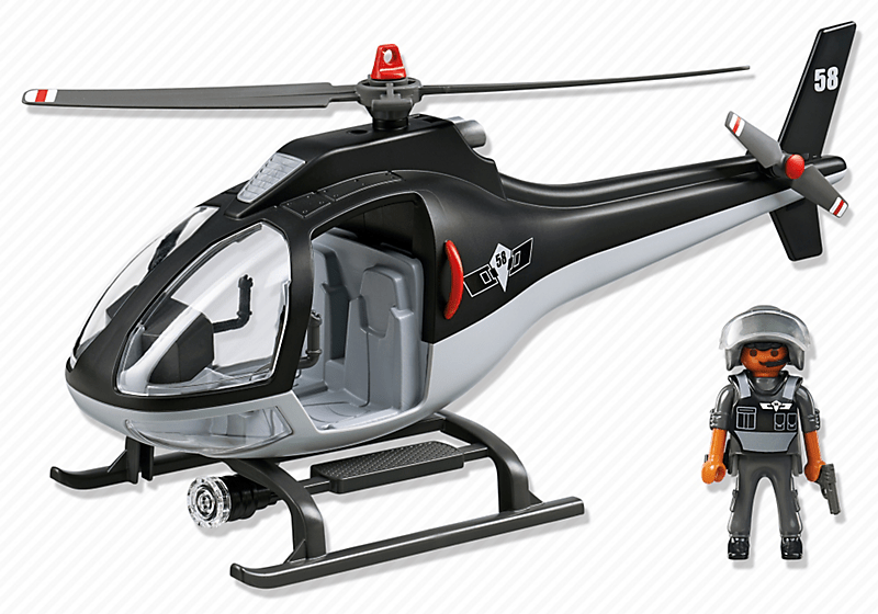 Playmobil 5563 h licopt re avec policier achat vente - Playmobile policier ...