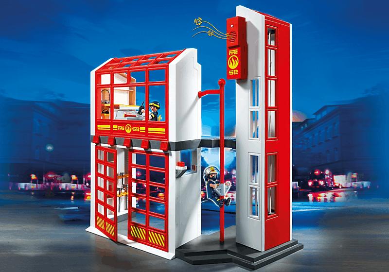playmobil 5361 caserne de pompiers avec alarme achat