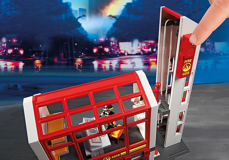 playmobil 5361 city action caserne de pompiers avec alarme achat vente univers miniature. Black Bedroom Furniture Sets. Home Design Ideas