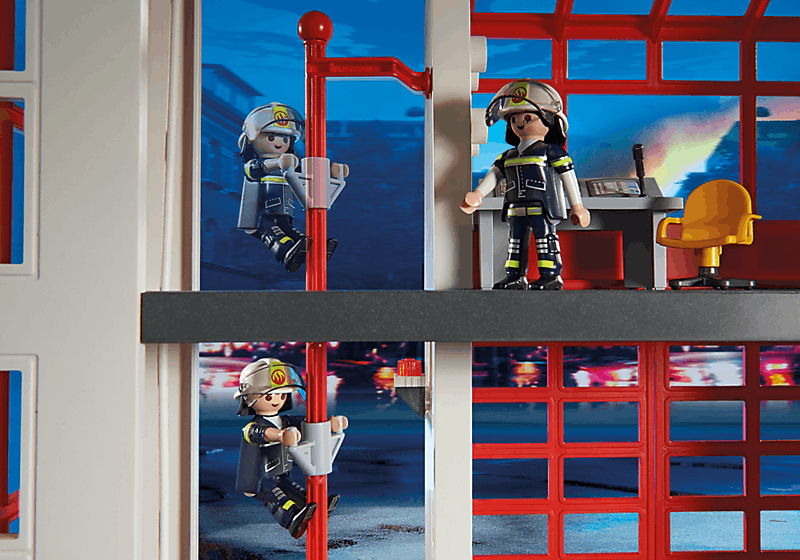 playmobil 5361 caserne de pompiers avec alarme achat vente univers miniature cdiscount. Black Bedroom Furniture Sets. Home Design Ideas