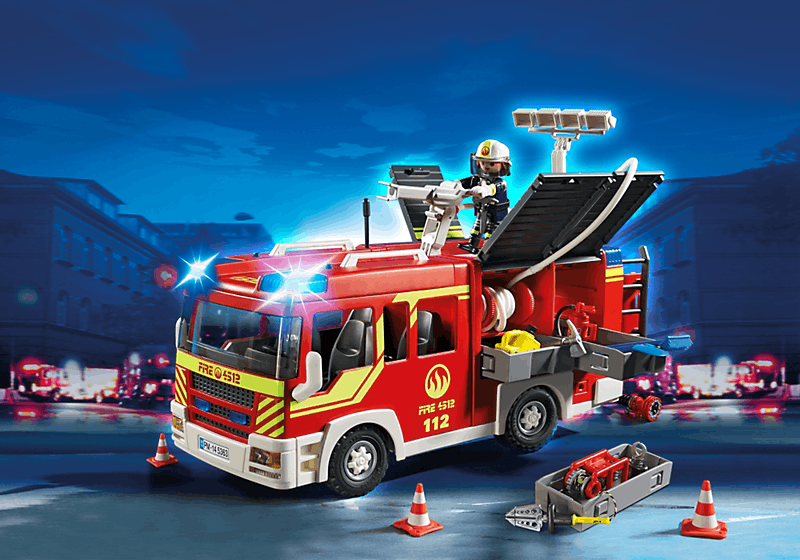 playmobil 5362 city action camion de pompiers avec chelle et sir ne achat vente univers. Black Bedroom Furniture Sets. Home Design Ideas