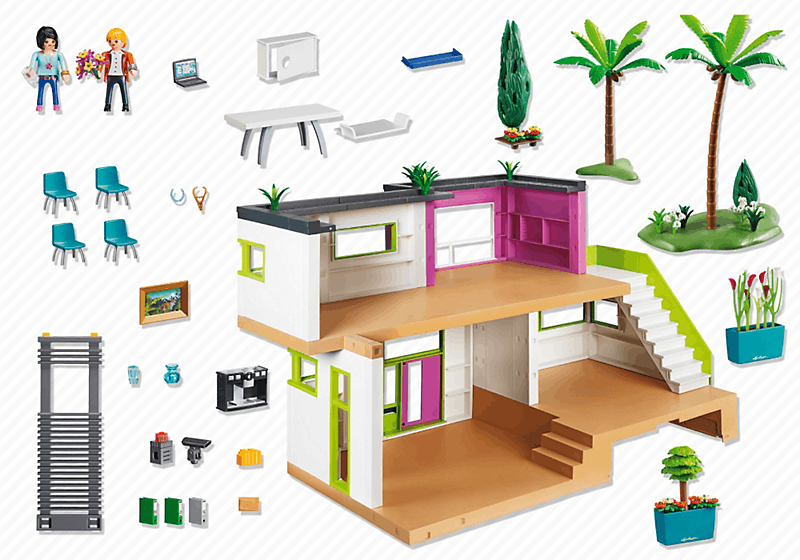 Playmobil 5574 maison moderne achat vente univers for Salle a manger playmobil city life