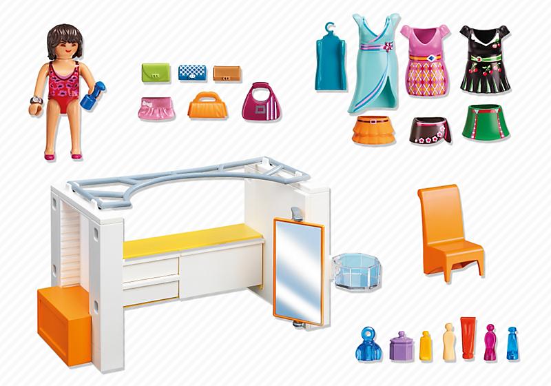 Playmobil 5576 dressing achat vente univers miniature for La maison moderne playmobil
