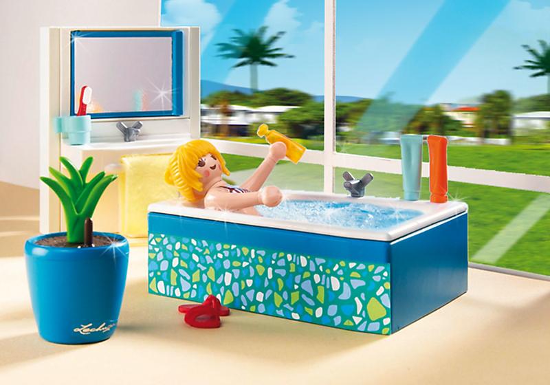 Playmobil 5577 salle de bains avec baignoire achat for Prix salle de bain playmobil