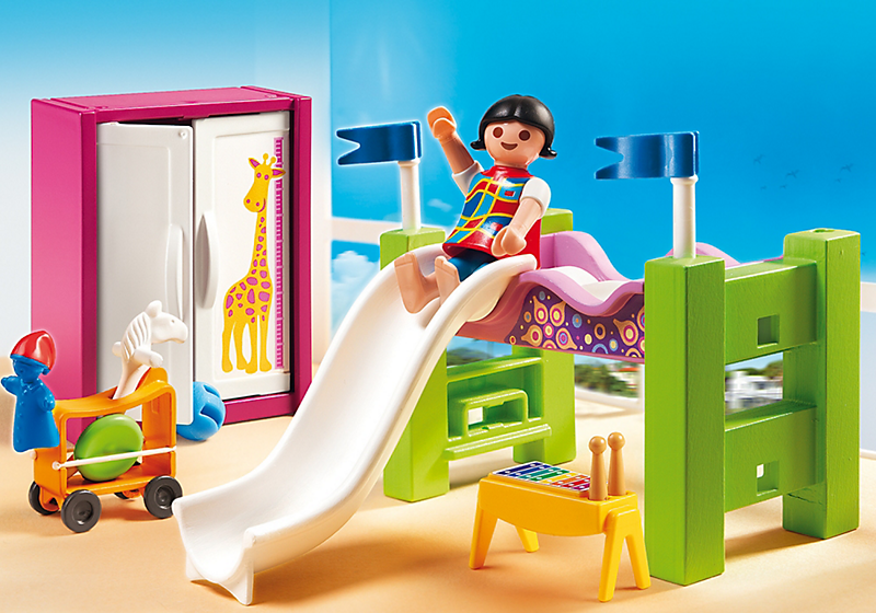 playmobil 5579 chambre enfant avec lit achat vente. Black Bedroom Furniture Sets. Home Design Ideas