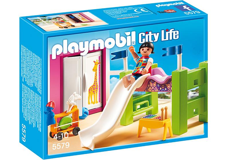 playmobil 5579 chambre enfant avec lit achat vente. Black Bedroom Furniture Sets. Home Design Ideas