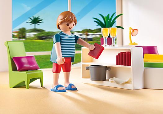 Chambre Moderne Playmobil : Playmobil chambre avec lit rond achat vente