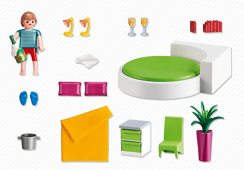 Playmobil 5583 chambre avec lit rond achat vente for Maison moderne jeu