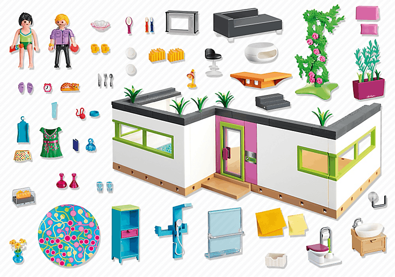 Grand Get Free High Quality HD Wallpapers La Maison Moderne Playmobil 5574