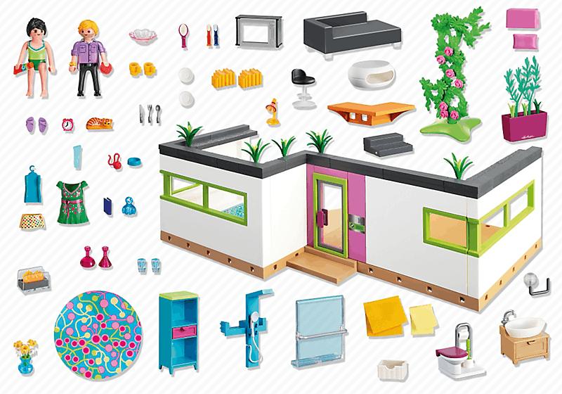 Playmobil 5586 studio des invit s achat vente univers miniature soldes cdiscount - Toute les maison playmobil ...