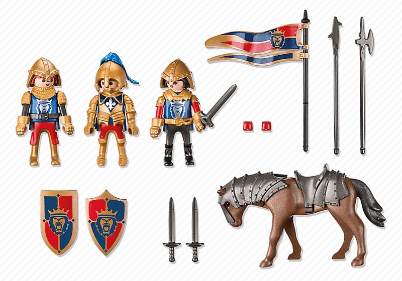 Chevalier Noir et Chevalier d'Argent Playmobil Knights