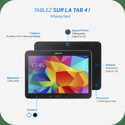 Samsung galaxy tab 4 10 39 39 blanche 16go prix pas cher - Tablette rose pas cher ...