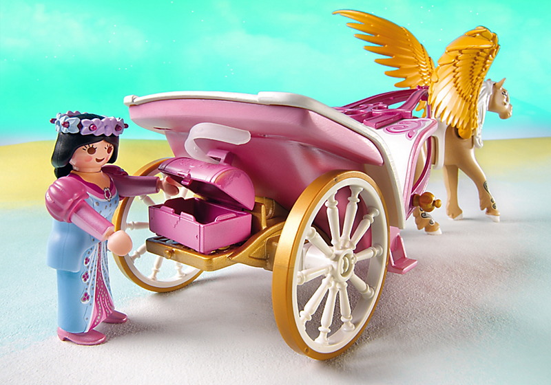 Playmobil 5143 carrosse avec cheval ail achat vente for Carrosse princesse playmobil
