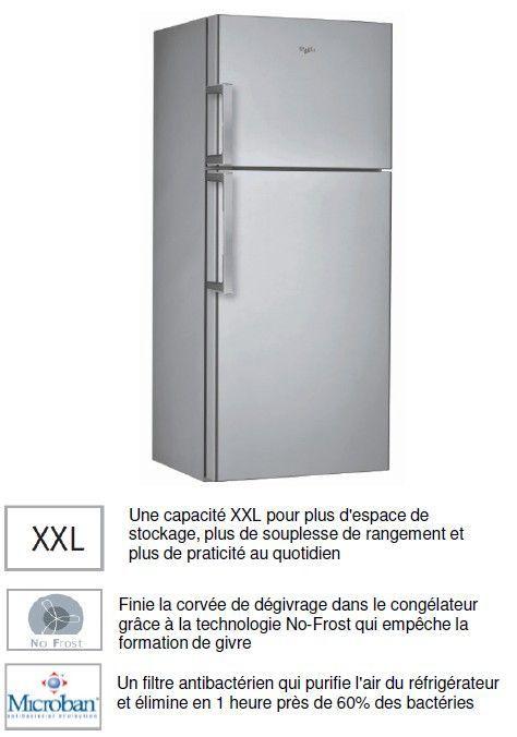 frigo grande largeur 2 portes whirlpool arc4138ix r frig. Black Bedroom Furniture Sets. Home Design Ideas