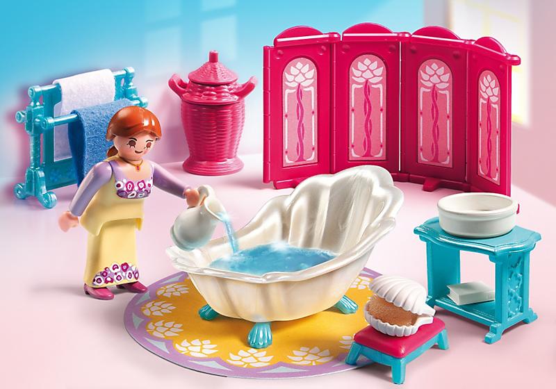 Playmobil 5147 salle de bain royale achat vente for Salle de bain avec baignoire playmobil