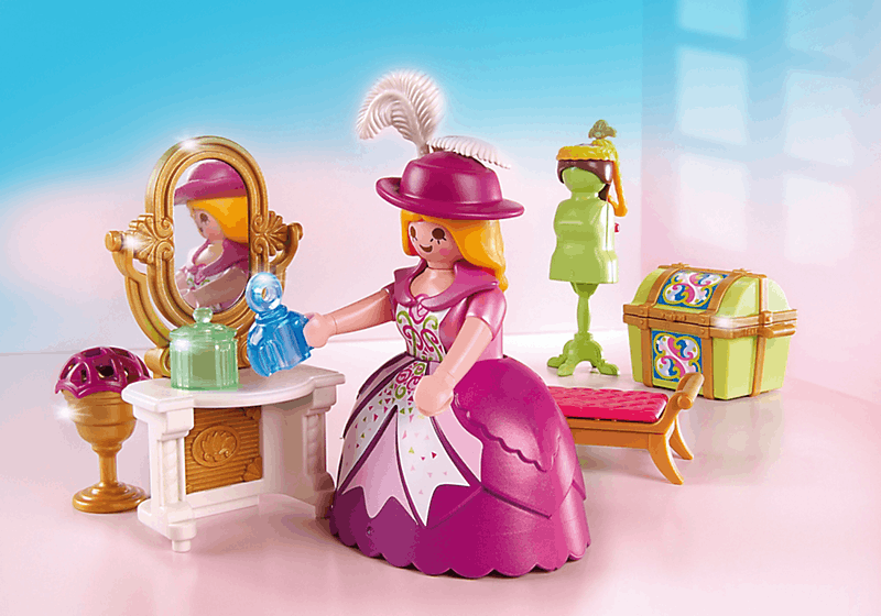 Playmobil 5148 salon de beaut de princesse achat vente univers miniature cdiscount for Playmobil chambre princesse