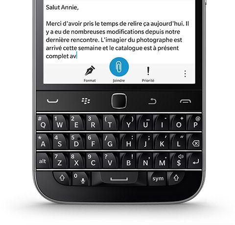 telephonie telephone mobile blackberry classic g f  bla