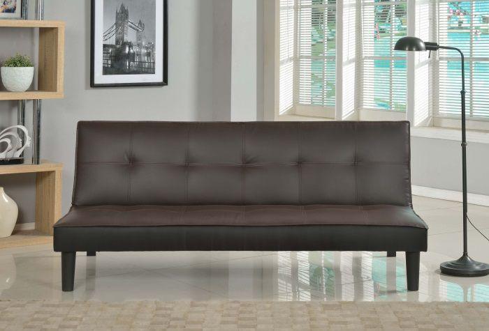 soft banquette clic clac convertible lit 3 places simili chocolat noir achat vente clic clac. Black Bedroom Furniture Sets. Home Design Ideas