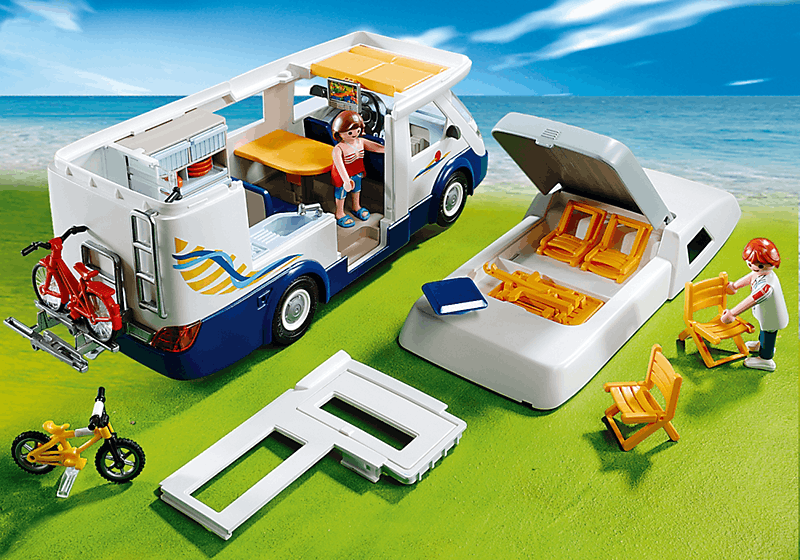 playmobil 4859 grand camping car familial achat vente univers miniature cdiscount. Black Bedroom Furniture Sets. Home Design Ideas