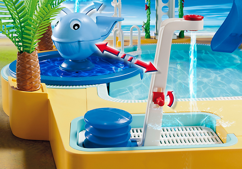 playmobil 5433 famille avec piscine et plongeoir achat vente univers miniature cdiscount. Black Bedroom Furniture Sets. Home Design Ideas