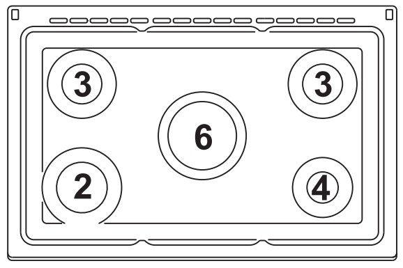 continental edison cecp8050mb cuisini re table gaz 5 foyers four lectrique multifonction. Black Bedroom Furniture Sets. Home Design Ideas