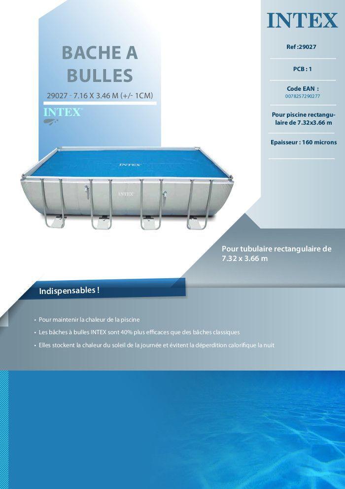 intex b che bulles piscine tubulaire 7 32x3 66 m achat vente b che couverture bache pour. Black Bedroom Furniture Sets. Home Design Ideas