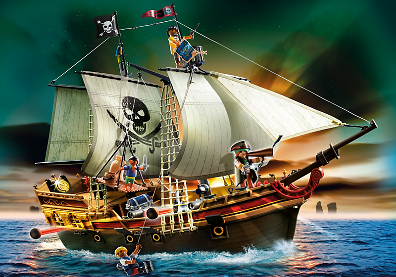 playmobil 5135 bateau d 39 attaque des pirates 4008789051356. Black Bedroom Furniture Sets. Home Design Ideas